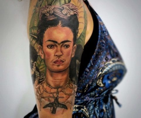 Frida Khalo Tattoo | Electric Fresco Tattoos PDX