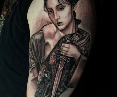 Geisha Portrait | Electric Fresco Tattoos PDX