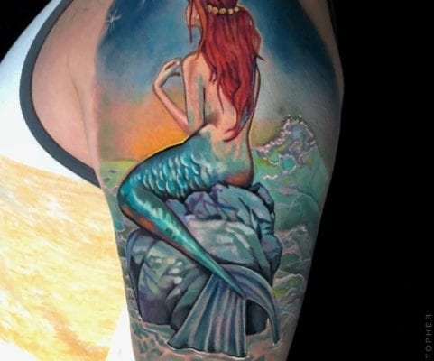 Color Mermaid | Electric Fresco Tattoos PDX