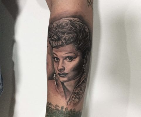 Lucille Ball | Electric Fresco Tattoos PDX