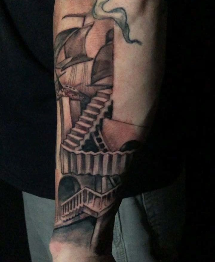 Mc Escher Electric Fresco Tattoos