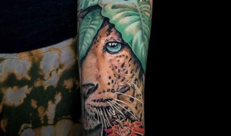 Junlge Cat Arm Tattoo | Electric Fresco Tattoos PDX